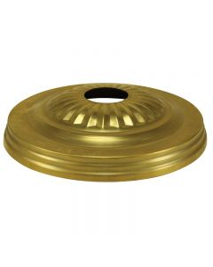 Solid Brass Embossed Screw Collar Canopy - Unfinished