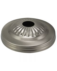 Embossed Screw Collar Canopy - Satin Nickel