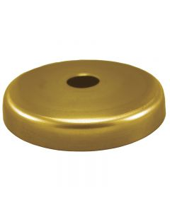Solid Brass Plain Round Screw Collar Canopy - Unfinished