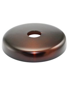 Plain Round Screw Collar Canopy - Black Copper