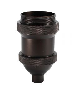 Heavy Cast Socket Cover for Porcelain Sockets - Bronze