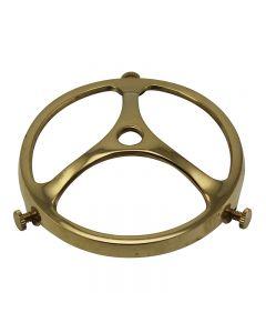 "Cast Brass Glass Holders, for 3-1/4"" Glass Lip"