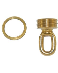 "1-3/4"" 1/4IP Cast Brass Screw Collar Loop - Unfinished"