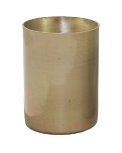 "2-1/4"" Solid Brass Medium Base Straight Edge Candle Cup - Unfinished"
