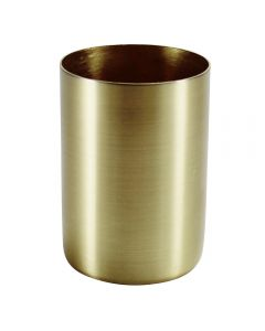 "2-1/4"" Steel Medium Base Straight Edge Candle Cup - Satin Brass"