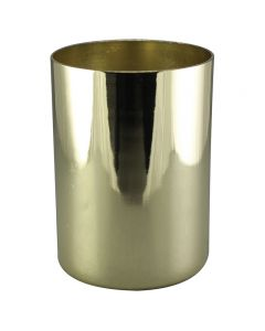 "2-1/4"" Steel Medium Base Straight Edge Candle Cup"