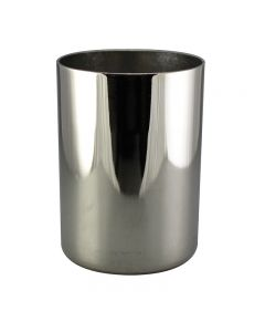 "2-1/4"" Steel Medium Base Straight Edge Candle Cup - Polished Nickel"