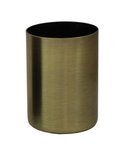 "2-1/4"" Steel Medium Base Straight Edge Candle Cup - Antique Brass"