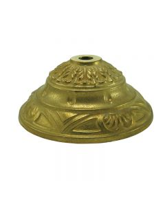 "Cast Brass Cap - Unfinished - D: 5-1/2"", H: 2-1/2"""