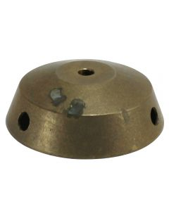 "3-1/2"" Cast Brass Tapered Body Ring With Top-3 Holes"