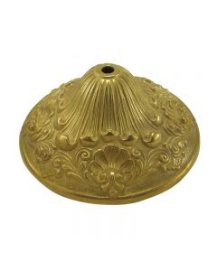 "Cast Brass Cap - Unfinished - D: 6-1/4"", H: 2-11/16"""