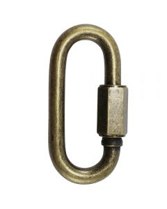 "8mm Connecting ""Quick"" Link - Antique Brass"