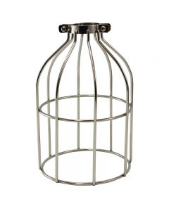 Premium Bulb Cage - Open Style - Clamp On - Nickel