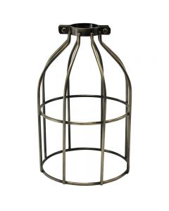Premium Bulb Cage - Open Style - Clamp On - Antique Brass