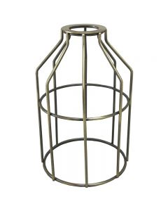 Premium Bulb Cage - Open Style - Washer Mount - Antique Brass