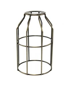 Premium Bulb Cage - Open Style - Large Washer Mount - Antique Brass