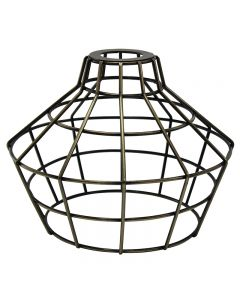 Premium Bulb Cage - Large Basket Style - Antique Brass