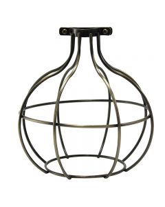 Premium Bulb Cage - Large Sphere - Antique Brass