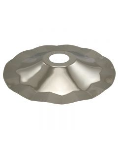 Metal Pendant Shade - Polished Nickel