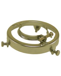 Clamp Style Glass Shade Holders Steel - Brass Plated