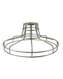 Railroad Shaped Cage for Versa Series Pendants and Swag Kit - Nickel