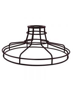 Railroad Shaped Cage for Versa Series Pendants and Swag Kit - Bronze