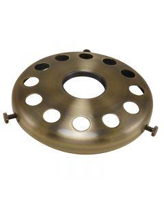 """4"""" Steel UNO Glass Shade Holder - Antique Brass"""