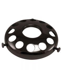 "3-1/4"" Steel UNO Glass Shade Holder - Black"