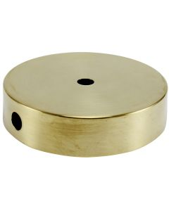 "4"" Plain Round Lamp Base Solid Brass - Unfinished"