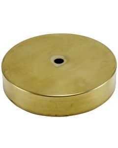"5"" Plain Round Lamp Base Solid Brass - Unfinished"