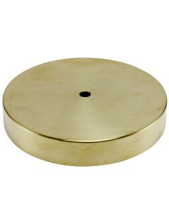 "6"" Plain Round Lamp Base Solid Brass - Unfinished"