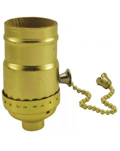 MB On/Off Pull-Chain Socket - Polished Gilt