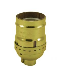 MB Keyless Short Socket - Polished Gilt (Leviton)