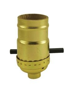 MB Push-Thru Socket - Polished Gilt (Leviton)
