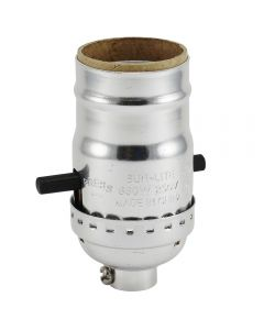 MB Push-Thru Socket - Polished Nickel