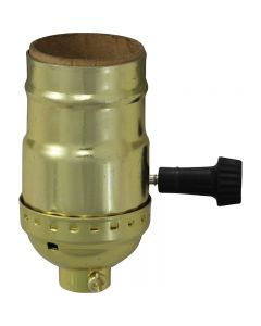 MB On/Off Turn-Knob Socket - Polished Gilt (Leviton)