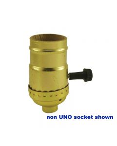 MB 3-Way Turn-Knob Socket - Polished Gilt UNO