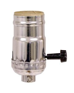 MB On/Off Turn-Knob Socket - Nickel (Leviton)