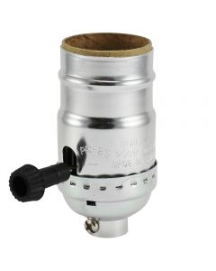 MB On/Off Turn-Knob Socket - Polished Nickel