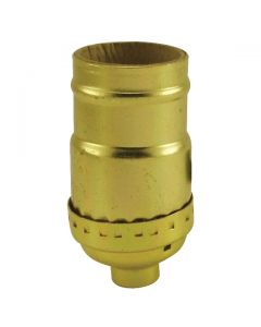 MB Keyless Socket - Polished Gilt (Leviton)