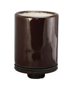 MB Socket, Glazed Porcelain with HD Metal Cap 1/8 IPS - Bronze