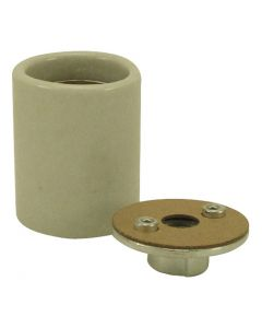 Medium Base Socket, Glazed Porcelain with Heavy-Duty Metal Cap 1/8 IPS