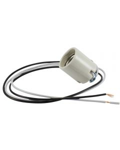 "MB Hickey Socket Glazed Porcelain - 18"" Leads"