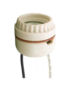 Medium Base Sign Receptacle Socket, Unglazed Porcelain