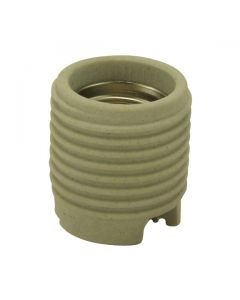 Threaded Medium Base Socket - Unglazed Porcelain