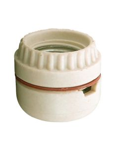 Medium Base Sign Receptacle Socket, Unglazed Porcelain - Screw Terminals
