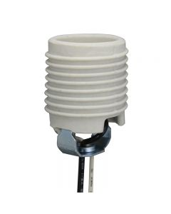 Threaded Medium Base Socket Unglazed Porcelain