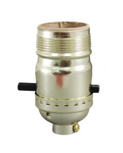 MB Push-Thru Socket - Polished Gilt UNO