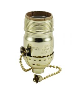 MB UNO On/Off Pull-Chain Socket - Polished Gilt