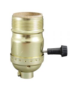 MB On/Off Turn-Knob Socket - Polished Gilt UNO